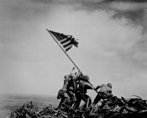 WW II IWO JIMA PHOTO